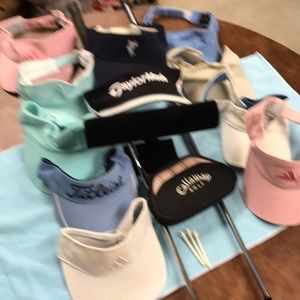 many Accessories - Golf visors with adjustable backs.Bill si varies